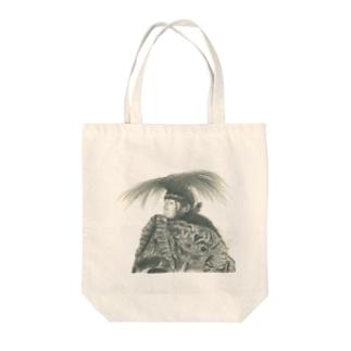 石見神楽 伝承者 Tote bags