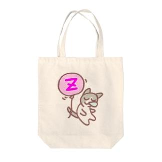 風船猫-居眠り Tote bags