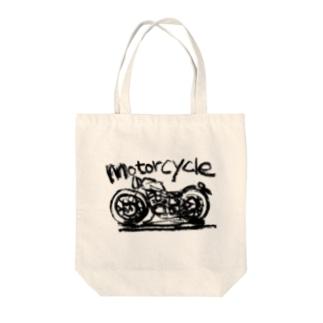 モーターサイクル線 Tote bags