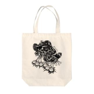 """Animalia Kinky """" Black Frog """" Tote bags"""