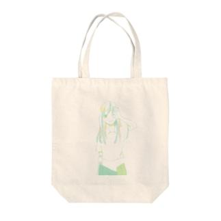 かのじょ Tote bags