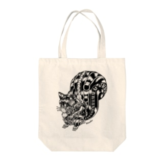 "Animalia Kinky "" Black Squirrel "" Tote bags"