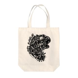 "Animalia Kinky "" Black Bass "" Tote bags"