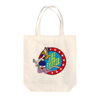 firefighter Tote bags