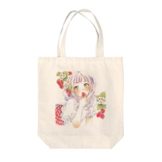 いちご Tote bags