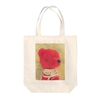 赤いクマ Tote bags