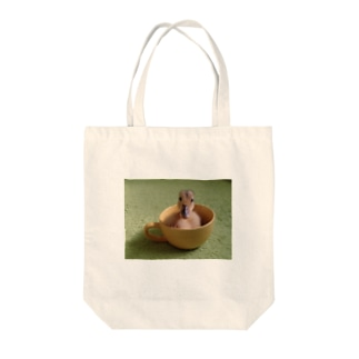 カップアイガモ2 Tote bags