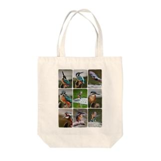 【にこらび】サロベツ原野のカワセミ Tote bags
