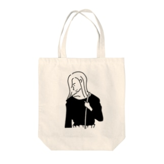 Girl ガール #4イラスト Tote bags
