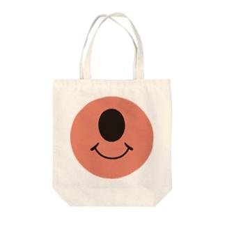 ワンアイスマイリー Tote bags