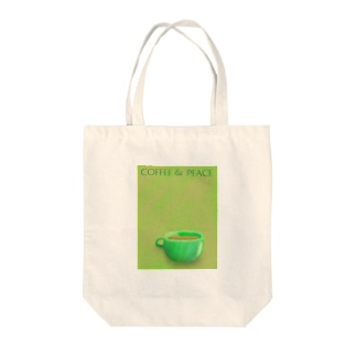 coffee & peace Tote bags
