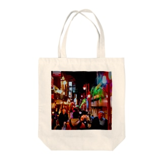 Tokyo nightview Tote bags