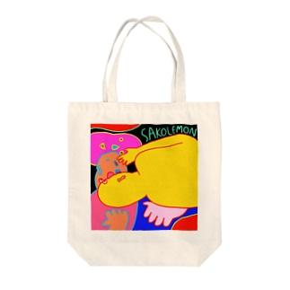 ハロー Tote bags