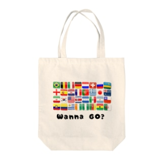 「Wanna Go?」 Tote bags