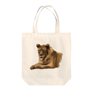 Animals シリーズ 〜ライオン〜 Tote bags
