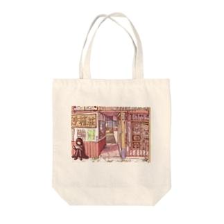 迷宮サンセット Tote bags