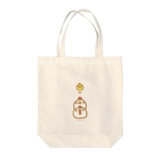 なかよしおやこ(しろ) Tote bags