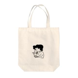 ラーメンねえさん Tote bags