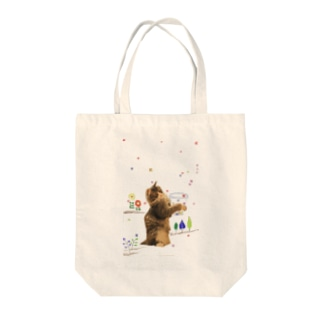 花を集める猫 ノルン Tote bags