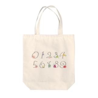 数字 Tote bags