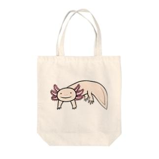 かわいいウーパールーパー Tote bags
