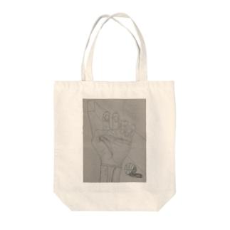 決意 Tote bags