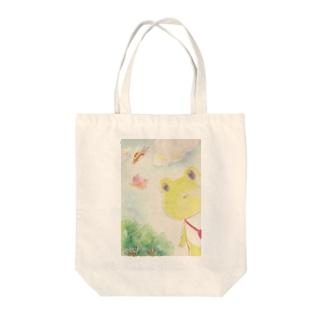 けろちゃん Tote bags