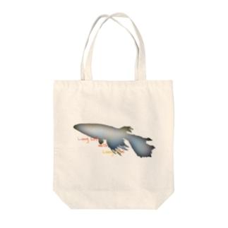 """""""@""""長いヒレの長い生活(メダカ) Tote bags"""