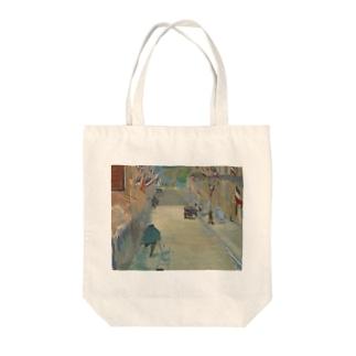 マネのマネ Tote bags