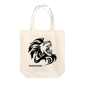 THE KING ROARED Tote bags