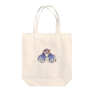 兎家チルの乙女の微笑 Tote bags