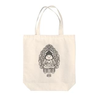仏にゃん Tote bags