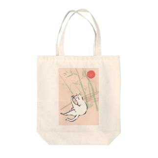 日本画風の猫 Tote bags