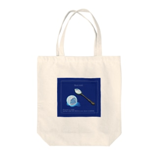 The moon on a rainy night Tote bags