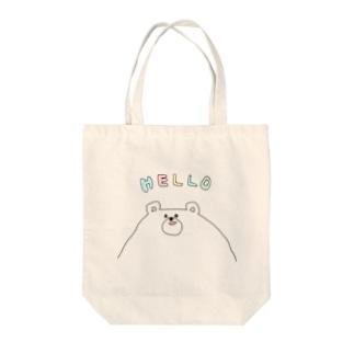 しろくまフェイス Tote bags
