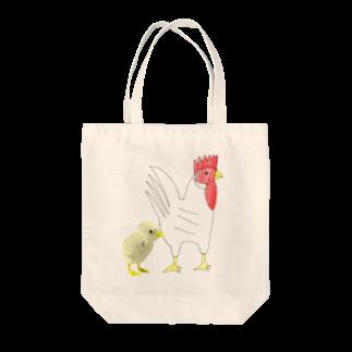 ★いろえんぴつ★のにわとりとヒヨコ Tote bags
