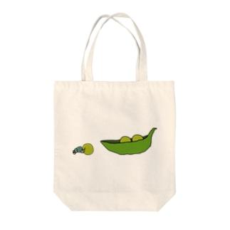 えんどう豆を運ぶフンコロガシ Tote bags