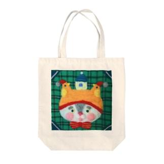 鳥好きニャンコの夢 Tote bags