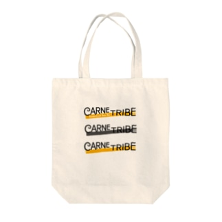 CarneTribe 3連カラーロゴ トートバッグ Tote bags