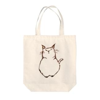 デブ猫さん Tote bags