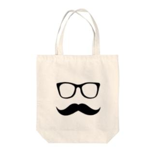MFD 黒縁眼鏡と髭 Tote bags