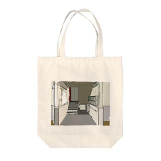 入り口 Tote bags