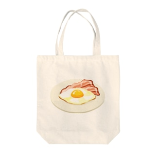 ベーコンエッグ Tote bags