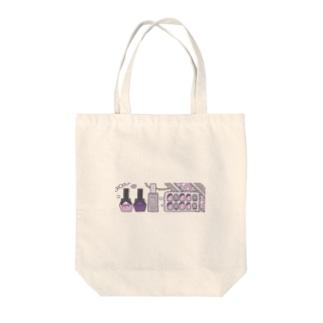 むらさきネイル Tote bags
