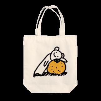 白いくつのしろくまみかん(大) Tote bags