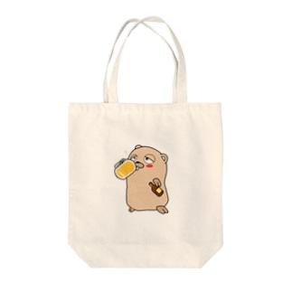 Drunken Gopher Tote bags