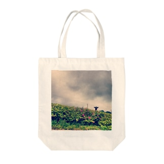 ひょっこり Tote bags
