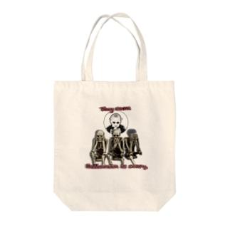 ハロウィン怖い Tote bags