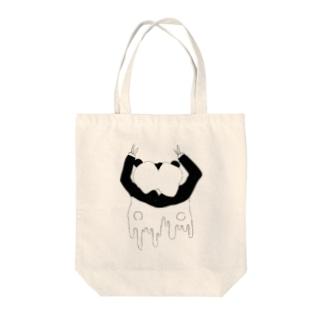 ぱんだがーる Tote bags