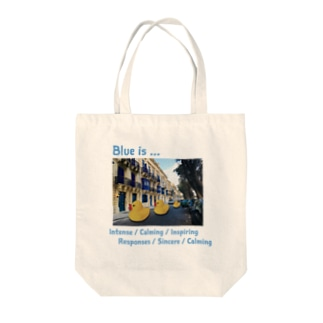 Blue is... Tote bags